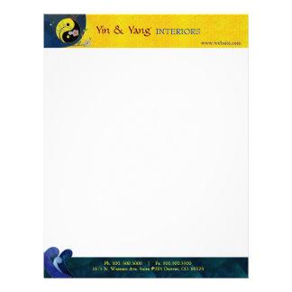 Yin n Yang Oriental Massage Therapy Business Letterhead
