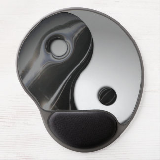 Yin negro líquido Yang personalizable Alfombrilla De Raton Con Gel