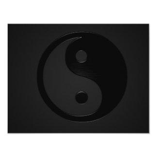 Yin oscuro y tirón - Yin Yang Invitación 10,8 X 13,9 Cm