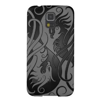 Yin oscuro Yang Phoenix Carcasa De Galaxy S5