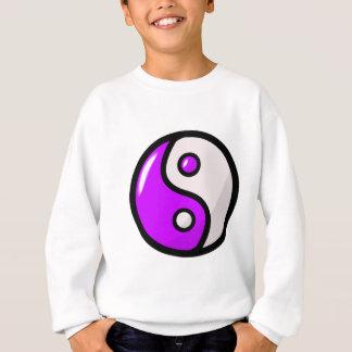 Yin púrpura brillante Yang en equilibrio Sudadera