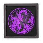 Yin púrpura y negro Yang Phoenix Cajas De Regalo De Calidad