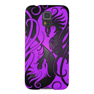Yin púrpura y negro Yang Phoenix Funda Para Galaxy S5