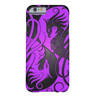 Yin púrpura y negro Yang Phoenix Funda Para iPhone 6 Barely There