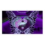 Yin púrpura Yang con el corazón de la mandala Tarjetas De Visita