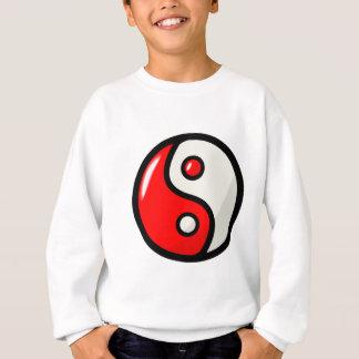 Yin rojo brillante Yang en equilibrio Sudadera