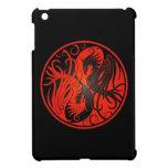 Yin rojo y negro Yang Phoenix iPad Mini Cárcasas