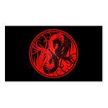 Yin rojo y negro Yang Phoenix Plantilla De Tarjeta Personal