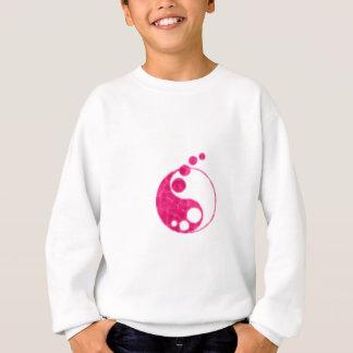 yin rosado yang sudadera