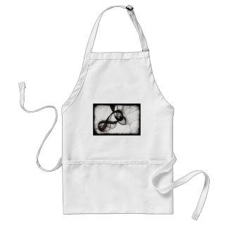 yin to yang adult apron