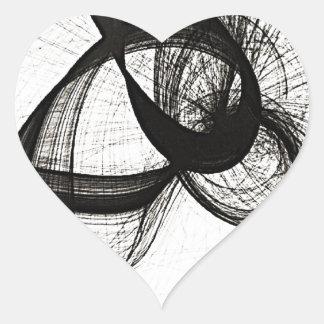 yin to yang heart sticker