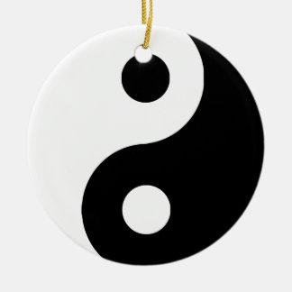 Yin tradicional Yang Ornamento De Navidad