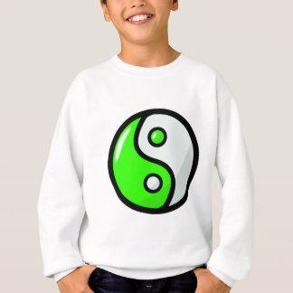 Yin verde brillante Yang en equilibrio Sudadera