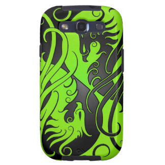 Yin verde y negro Yang Phoenix Galaxy S3 Cobertura