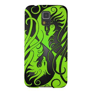 Yin verde y negro Yang Phoenix Funda Para Galaxy S5