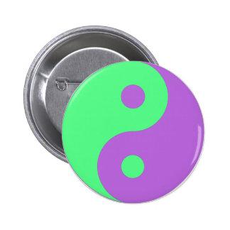 Yin verde y púrpura Yang Pins