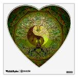 Yin verde Yang con el árbol de la vida Vinilo