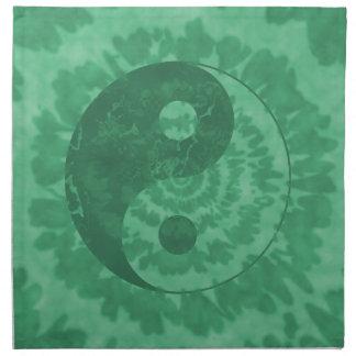 Yin verde Yang Servilleta