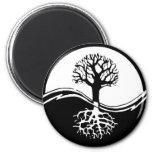 Yin y árbol de yang de la vida imán de frigorifico