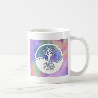 Yin y diseño coloridos de yang taza de café