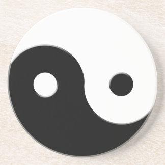 Yin y práctico de costa espiritual del arte de la  posavasos para bebidas