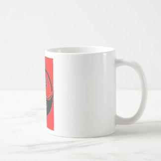 Yin y símbolo rojos de yang tazas de café