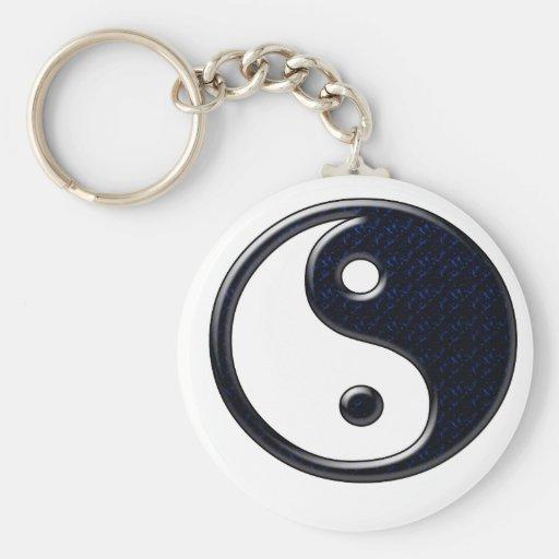 Yin y Yang (azules) Llaveros