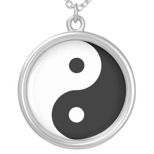 Yin y Yang Colgante Redondo