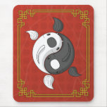 Yin y Yang el Koi Mousepad Tapetes De Ratón