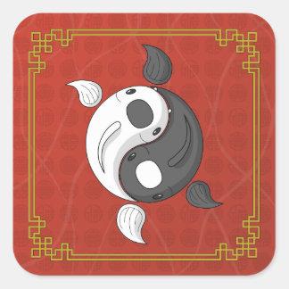 Yin y Yang el pegatina de Koi