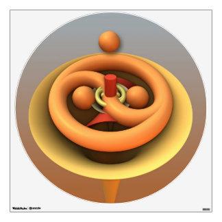 Yin y Yang, etiqueta tridimensional abstracta fres