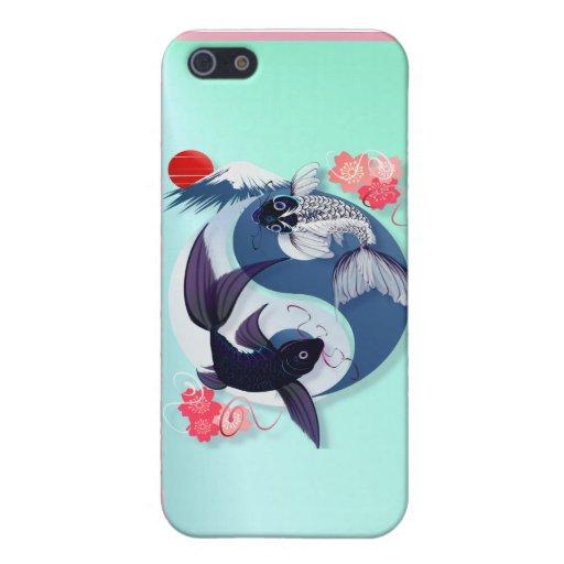 Yin y Yang Koi iPhone 5 Carcasa