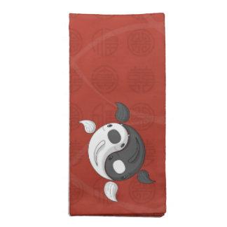Yin y Yang la servilleta de Koi