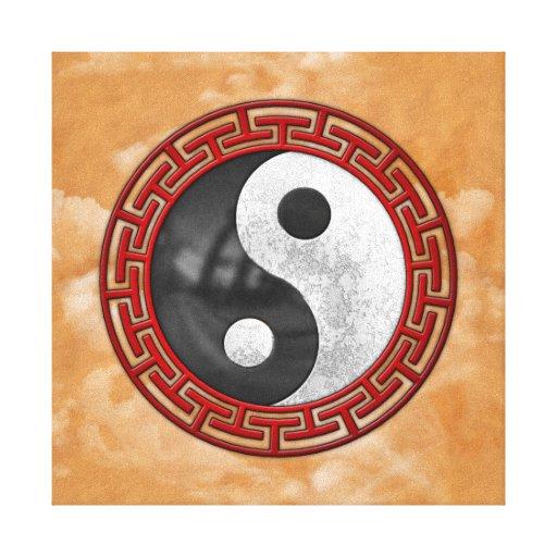 Yin y Yang Lona Estirada Galerías