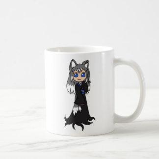 Yin y Yang los chicas del Fox (Kitsune) Taza