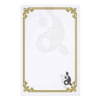 Yin y Yang los efectos de escritorio de Koi Papelería Personalizada