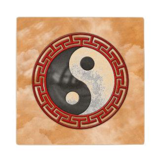 Yin y Yang Posavasos De Madera