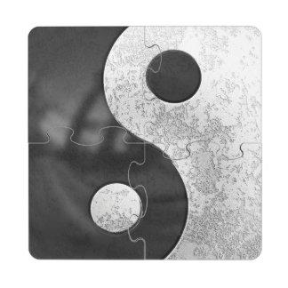 Yin y Yang Posavasos De Puzzle