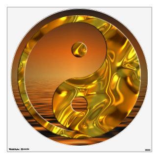Yin y Yang - puesta del sol del oro