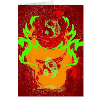 Yin y Yang que derriten el fuego CricketDiane Tarjetón
