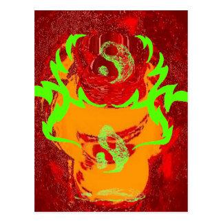 Yin y Yang que derriten el fuego CricketDiane Tarjeta Postal