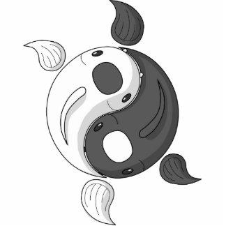 Yin y Yang que la foto de Koi esculpe Escultura Fotográfica