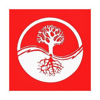 Yin y yang rojos y blancos impresiones de lienzo