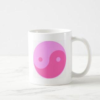 Yin y yang rosados taza
