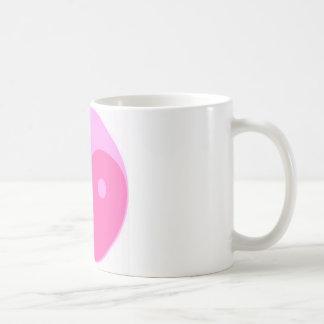 Yin y yang rosados tazas de café