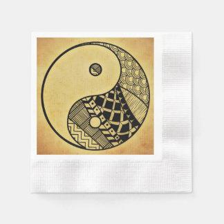 Yin y Yang Servilleta Desechable