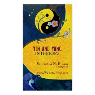 Yin y Yang Tarjetas de visita del diseño interior