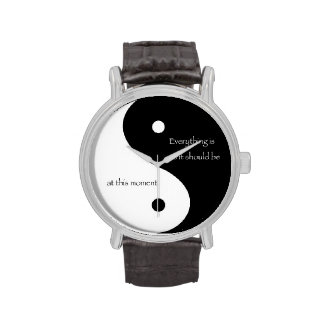 """Yin y Yang """"todo es mientras que debe ser… """" Reloj"""
