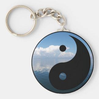 yin yang-1 llavero redondo tipo pin