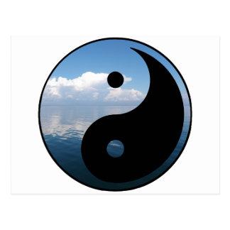 yin yang-1 tarjeta postal